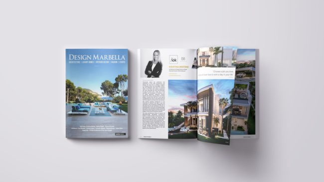 Kristina Bråteng in Design Marbella Magazine